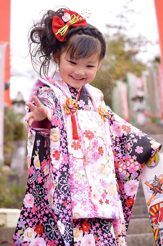 七五三 3歳女の子の着物
