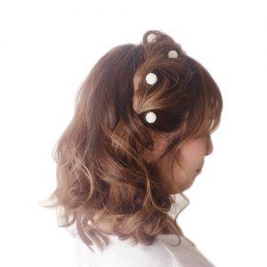 成人式 振袖 髪型 ボブ