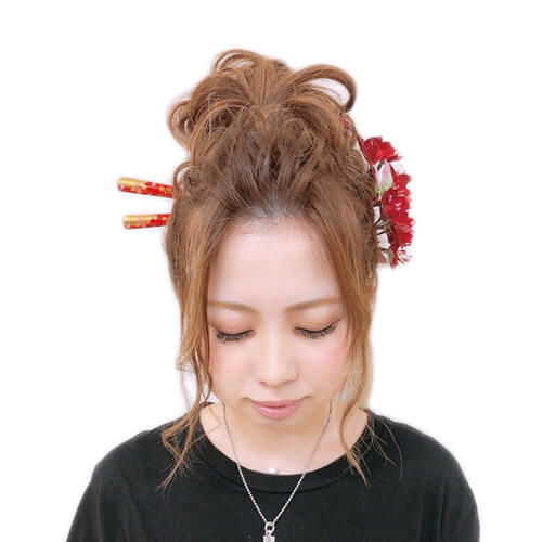 成人式で映えるロングヘアのアップスタイル集 | 成人式の髪型
