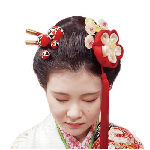 ロングヘアで作る清楚な和風スタイル | 成人式の髪型・振袖ヘア