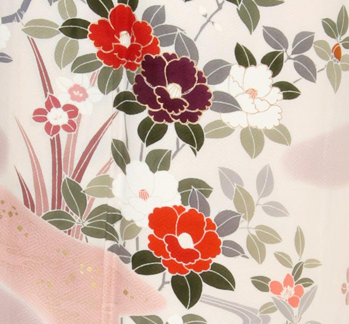 訪問着,ピンク,椿,七五三,母親,着物,和装,和服