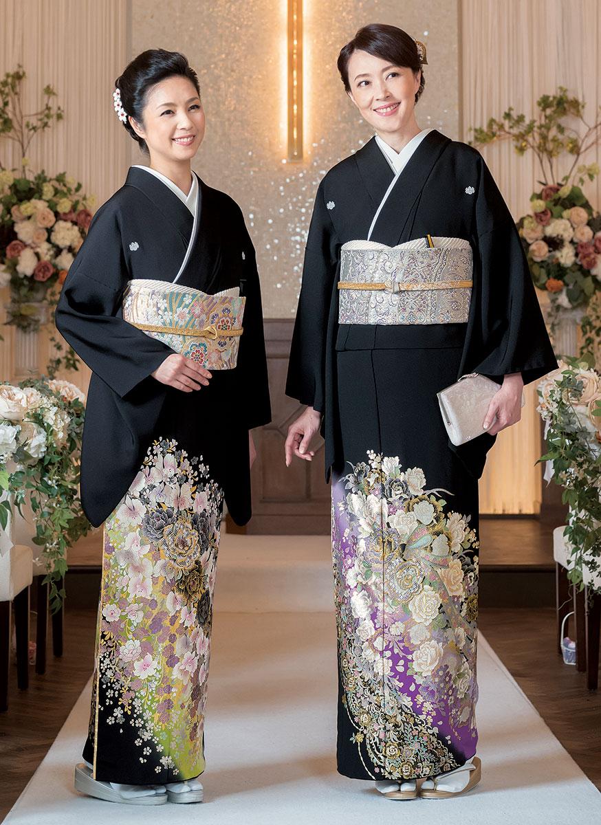 黒留袖 40代 50代 選び方 おすすめ 上品 華やか オシャレ 披露宴 結婚式