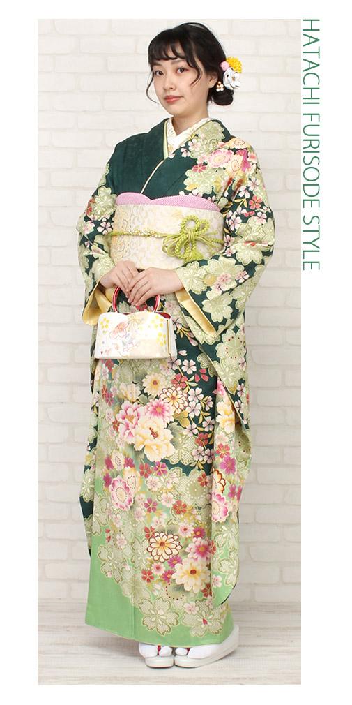 草履バッグセット 振袖用 訪問着用 刺繍 紗織